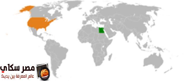 أهم المدن فى الولايات المتحدة والعلاقات الأمريكية المصرية