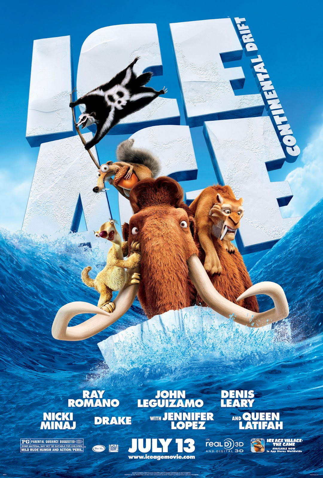 Watch Ice Age: Continental Drift Movie Online Free 2012