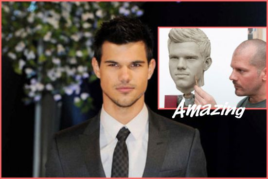 A wax statue of Taylor Lautner