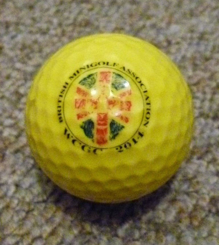 The official ball of the World Crazy Golf Championship 2014
