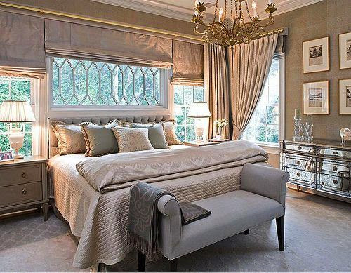 glitzy brown bedoom