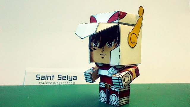 Saint Seiya Papercraft Pegasus Seiya Paper Toy