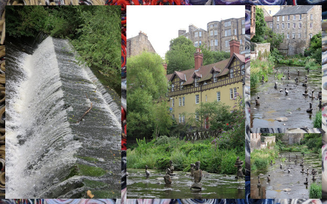 The Water of Leith in Edinburgh - Waterfalls and Runes