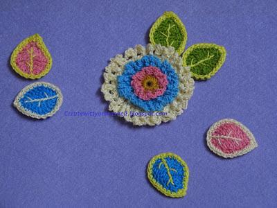 Free pattern Crochet leaves 3