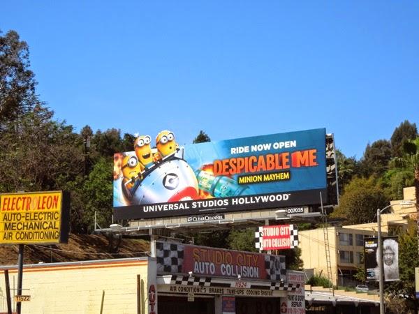 Despicable Me Minion Mayhem ride billboard