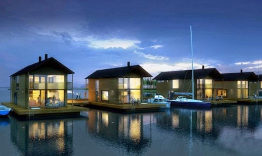 villa floating house