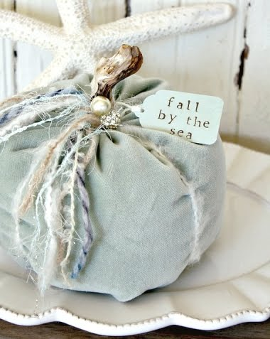 velvet fabric pumpkin