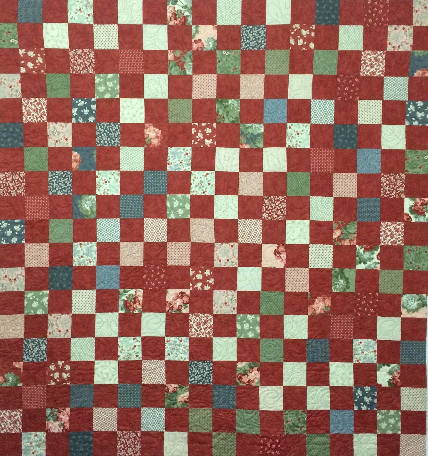 Eva Bransford Red Squares Quilt