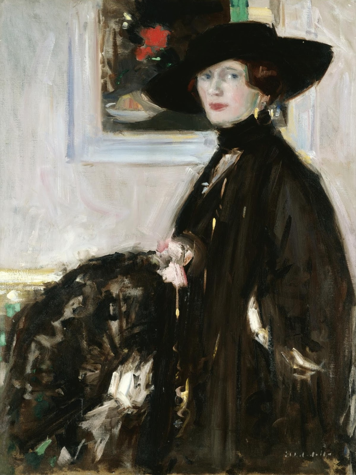 Francis Cadell The black hat miss Don Wauchope