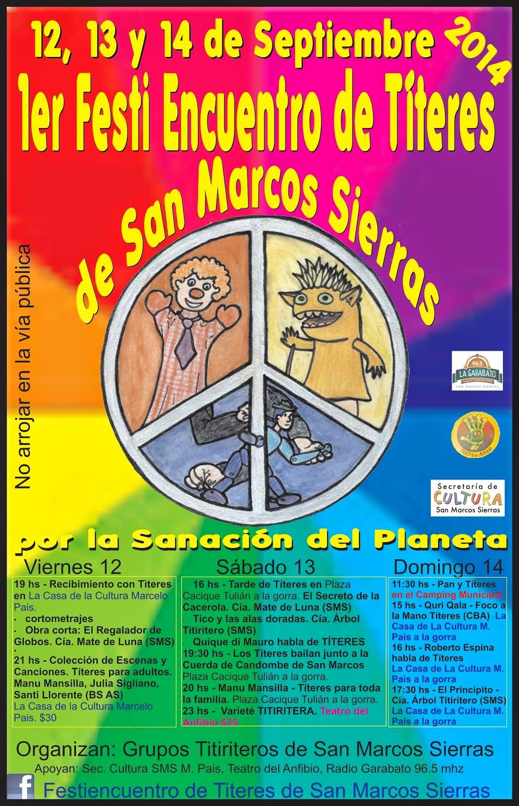 El Principito y Tico participan del 1er Festiencuentro de Títeres de San Marcos Sierras!!!!