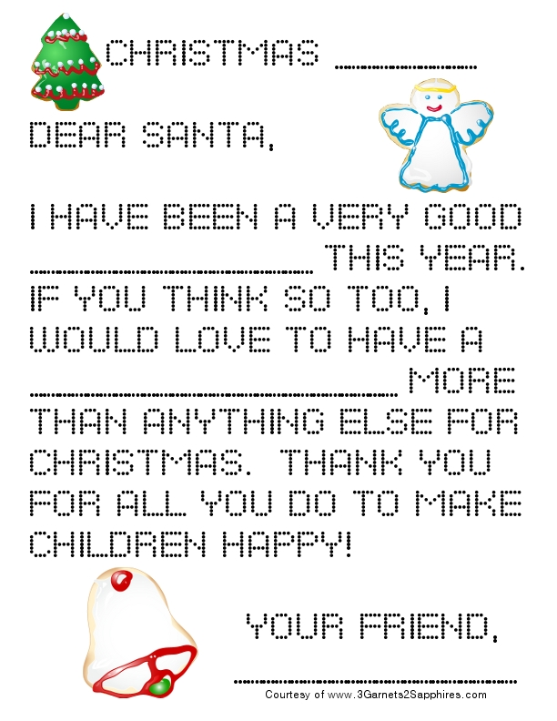 Go Back > Gallery For > Letter To Santa Template For Preschoolers