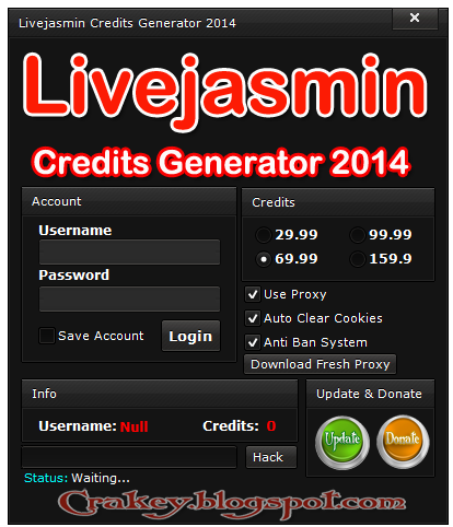 Livejasmin Credits Hack Tool,increase Livejasmin Credits for FREE