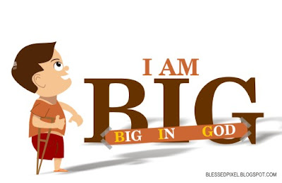 Big in God, child, kiddie, illustration