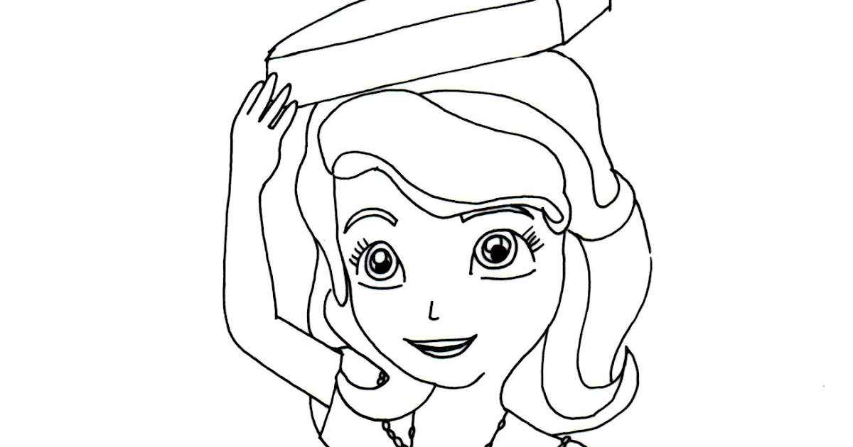 Sofia the first coloring pages perfect posture sofia for Free printable sofia the first coloring pages