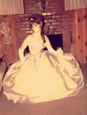 Carol Ann in Prom Dress