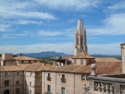 Rooftop view over historic Girona in Northern Spain