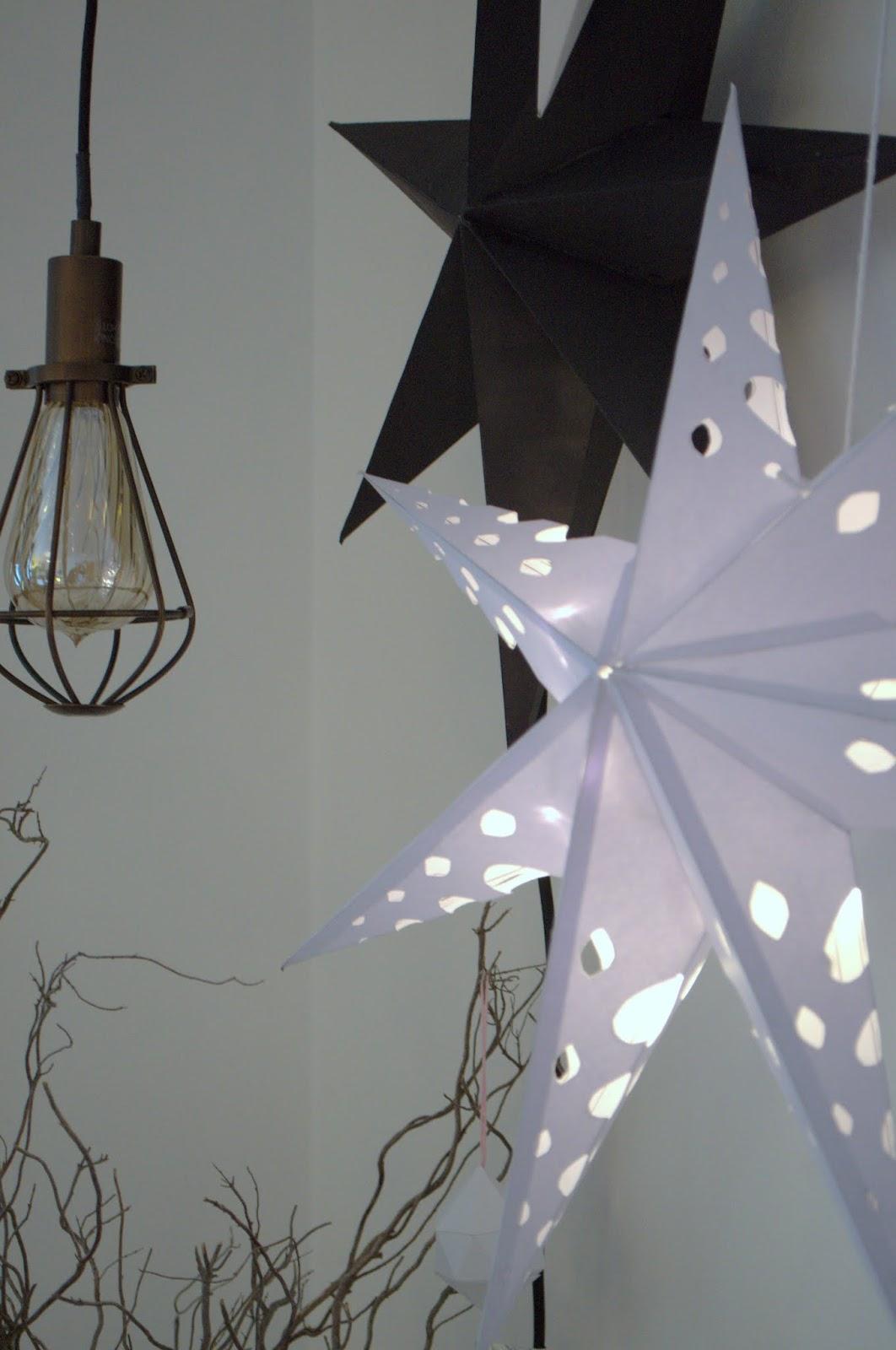 Nostalgiecat diy paper stars for Paper star lamp