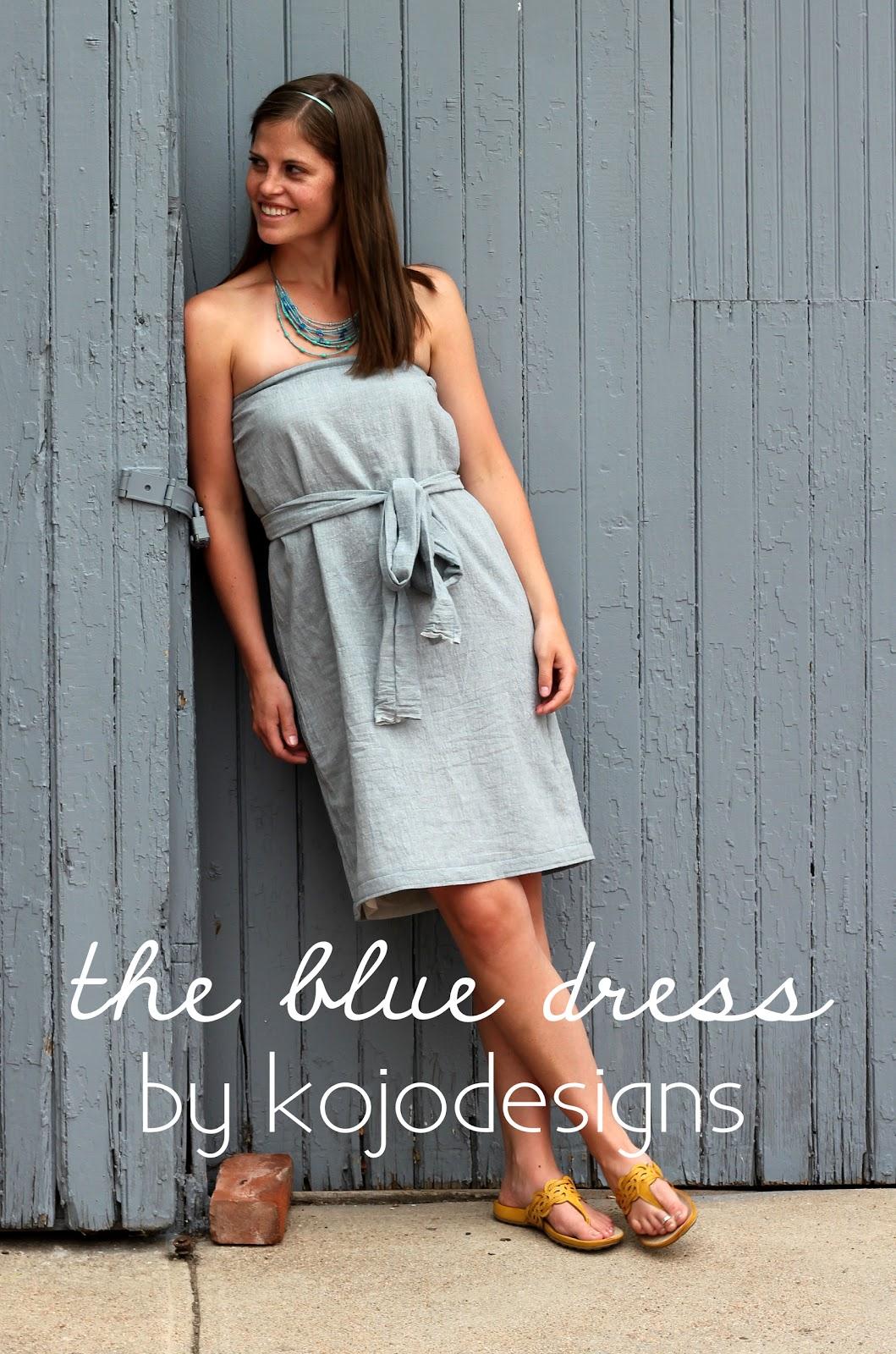 strapless blue dress tutorial