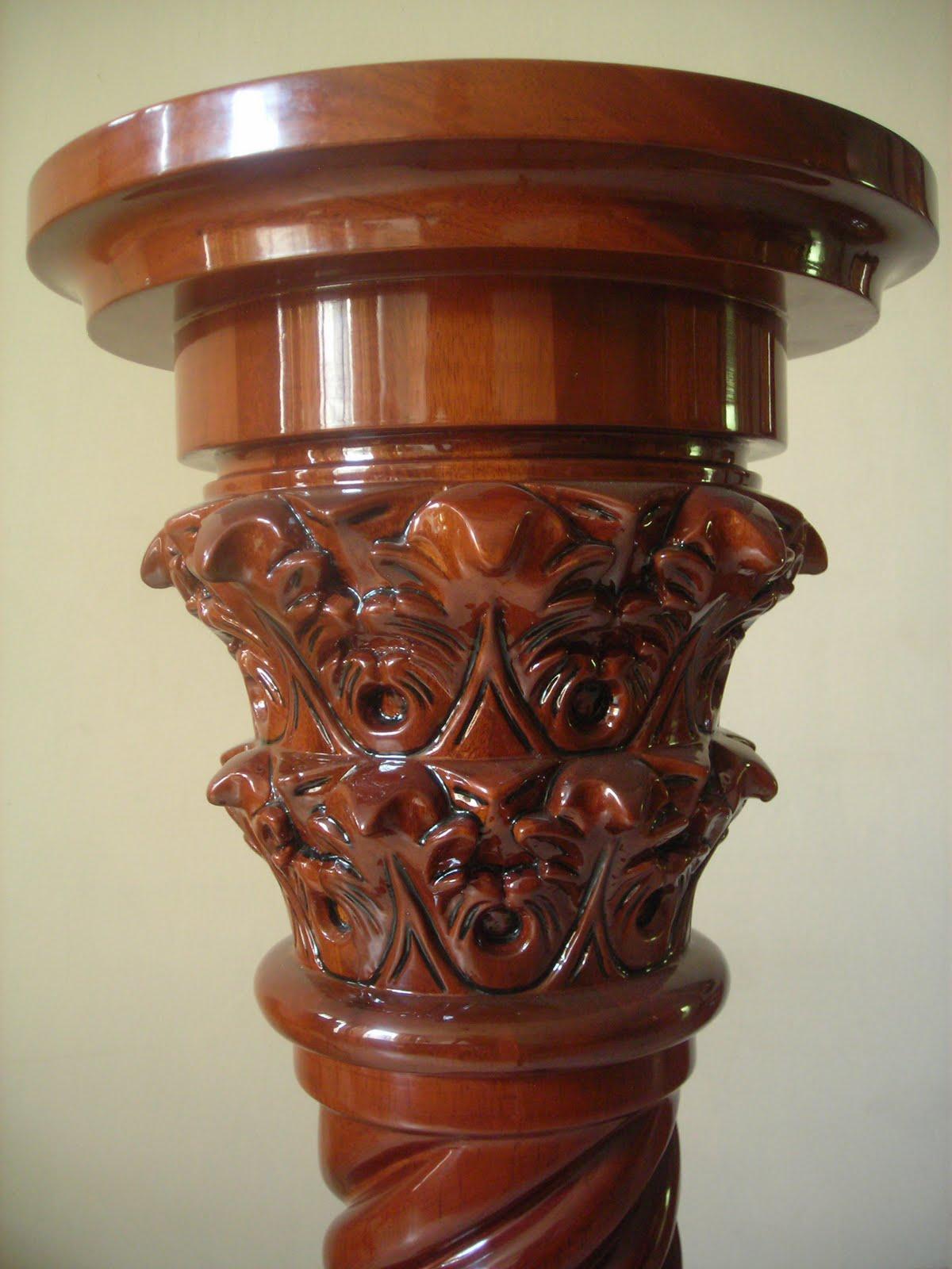 El arte hecho en madera muebles mas pedidos for Muebles tallados en madera