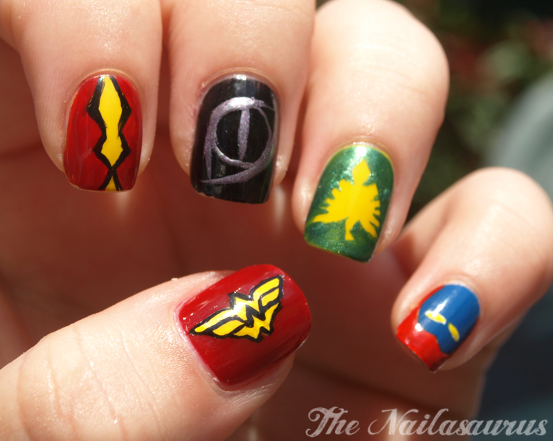 Superheroine Nail Art - The Nailasaurus | UK Nail Art Blog