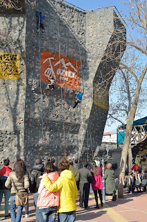 Climbing wall in Ritan Park in Beijing