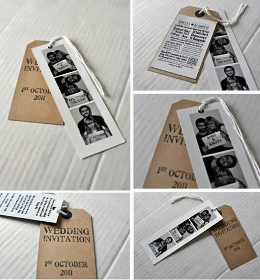 Invitación de boda marca páginas