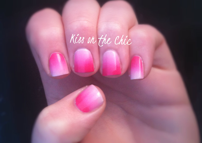 Kiss on the Chic Two Toned Nails