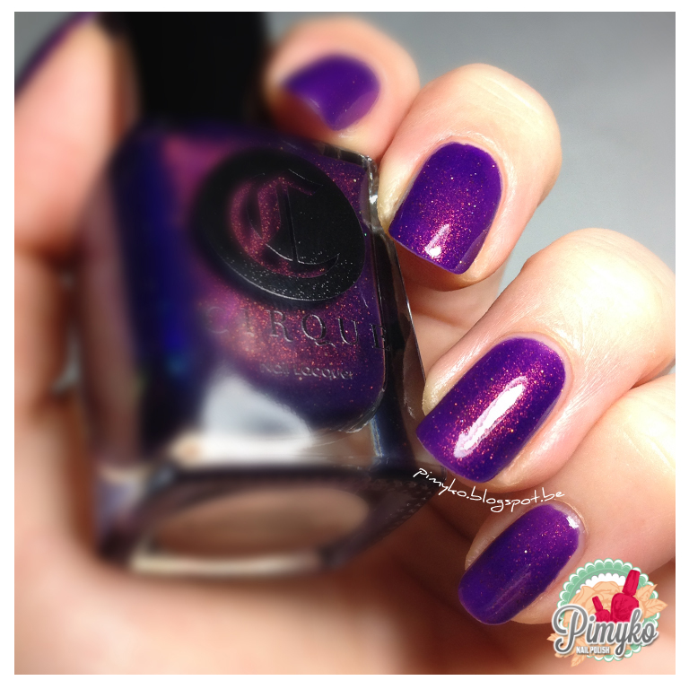 "pimyko swatch ""Coronation"" by Cirquecolors with Jeannie Vianney's ring"