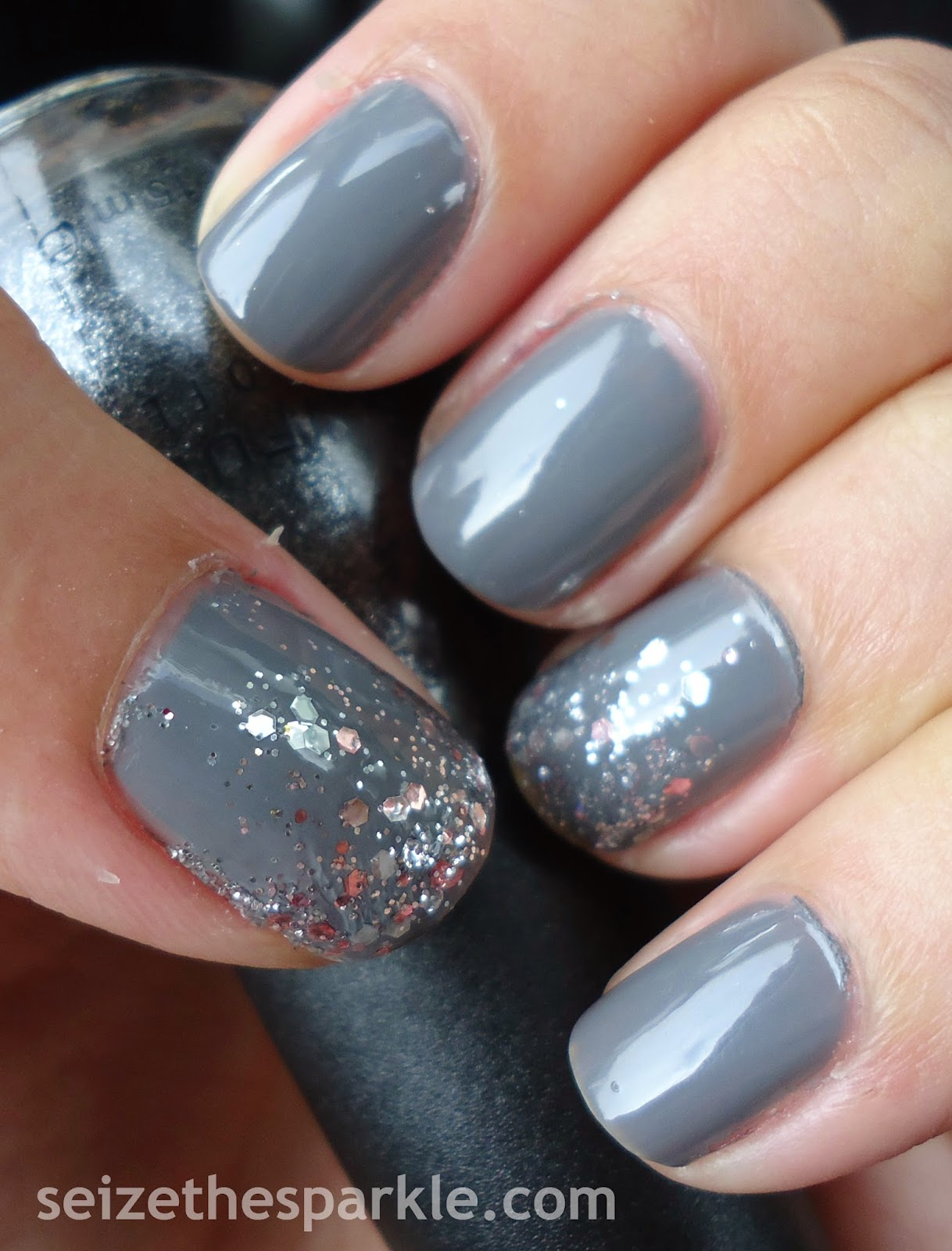 Grey Gradient Manicure