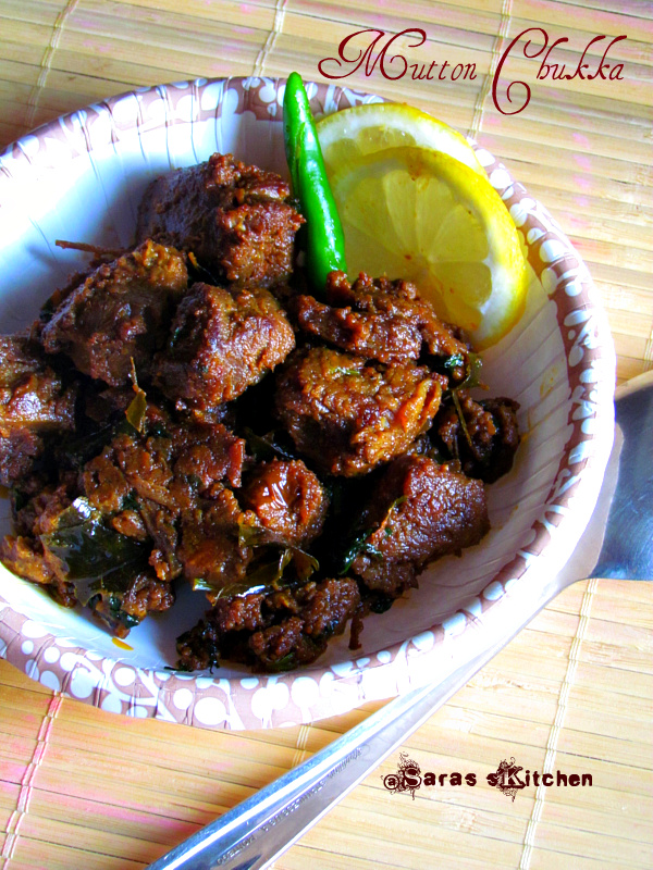 Spicy lamb dry fry mutton chukka uppukari sarasyummybites
