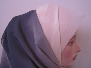 tudung bawal 3 tone plain kelabu