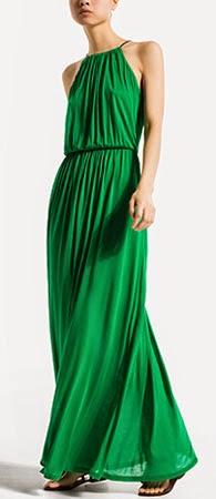 vestido largo para evento Massimo Dutti verano 2014