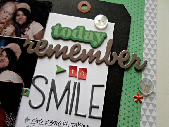 Thickers Scrapbook Layout