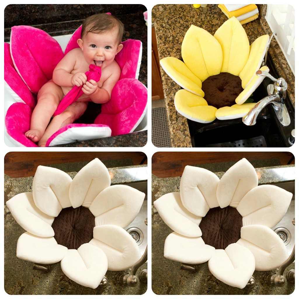 As You Can See, It Is A Plush Fabric Flower That You Place Inside Your  Kitchen Sink And It Cradles The Baby While You Bathe Them.