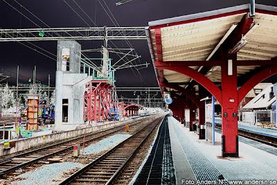 alvesta station, central, järnvägsstation, övergång, bro över spåren, ny, nybygge, nybyggnation, renovering, foto anders n