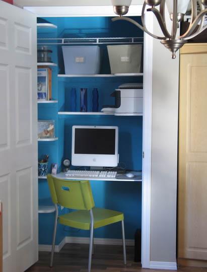 Cyn deco soluciones para poco espacio escritorio armario for Ideas para escritorios poco espacio