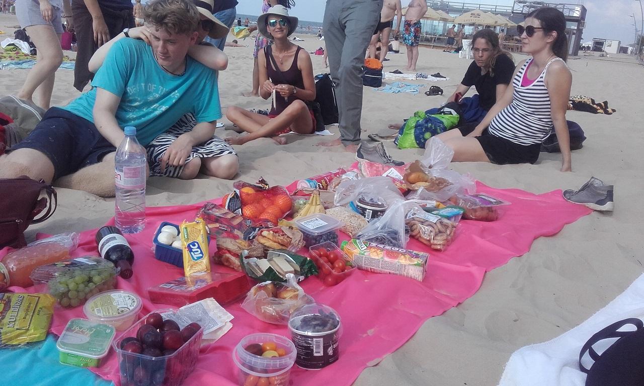 Picnick am strand von Jurmala