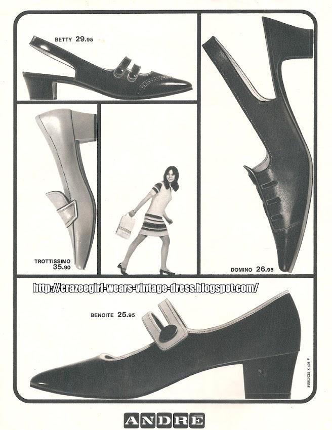 André shoes - 1967 mod 60s 1960