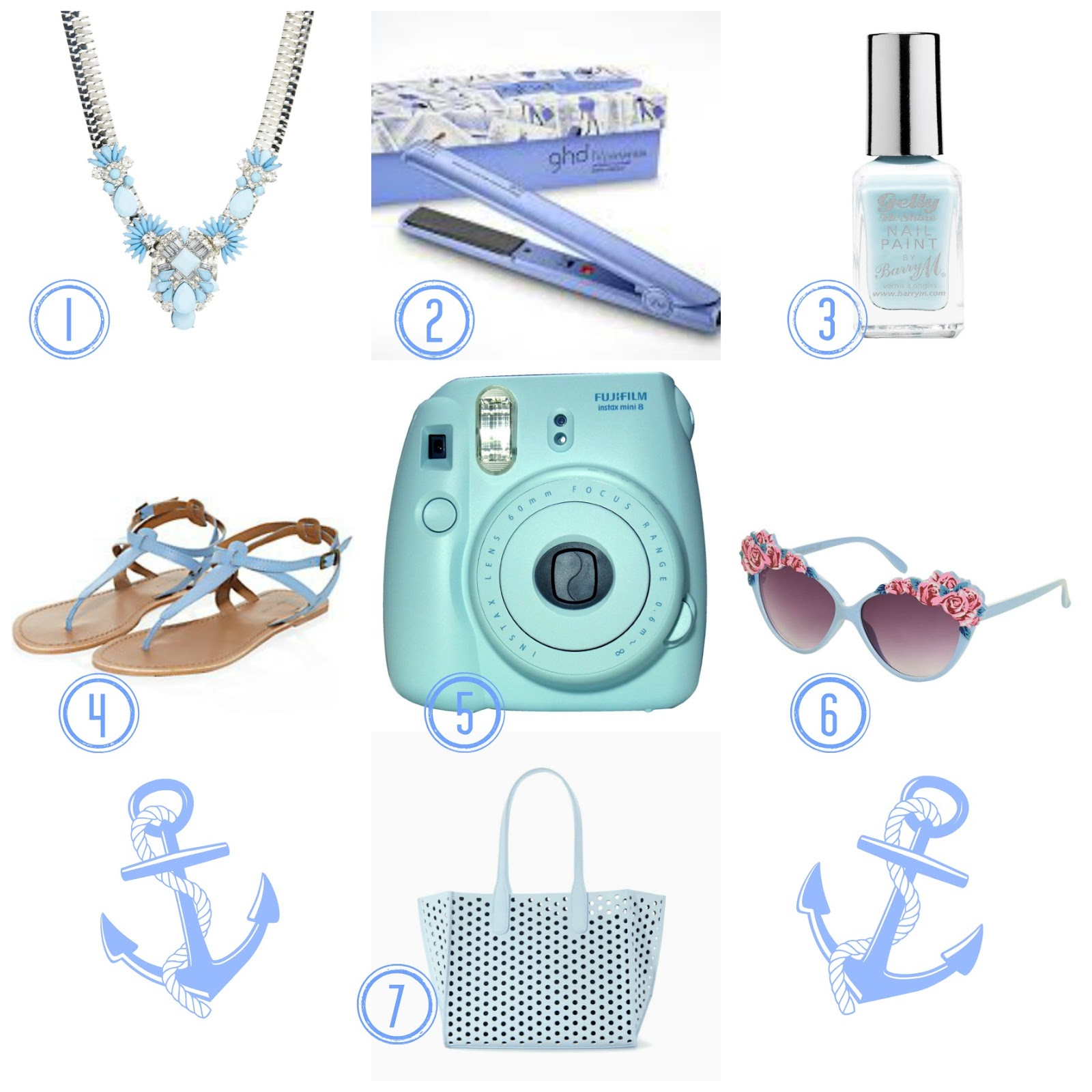 light blue pastel wishlist barry m zara instax new look aldo