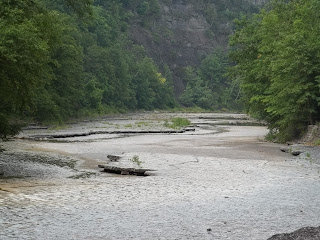 Taughannock Falls creek bed