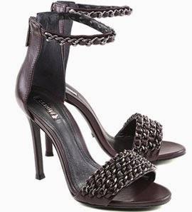 coleção outono inverno 2014 sandália tornozeleira com corrente
