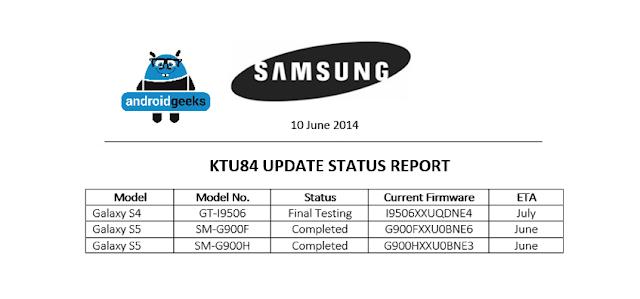 Samsung Galaxy S5 4.4.3 KitKat