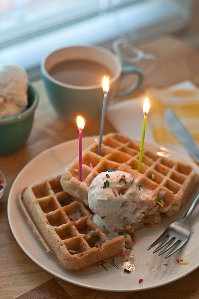And Because Cake Waffles With Ice Cream While Wonderful Still Dont Make Up For A Traditional Birthday Check Back Later This Week Peek At My