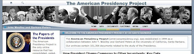 American Presidency Project homepage