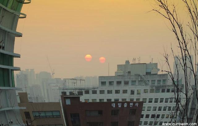 Dos soles sobre Seúl en Corea
