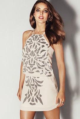 look para vestir de noche verano H&M falda top lentejuelas