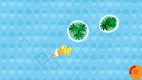 Frobisher Says! Find the island swimming game