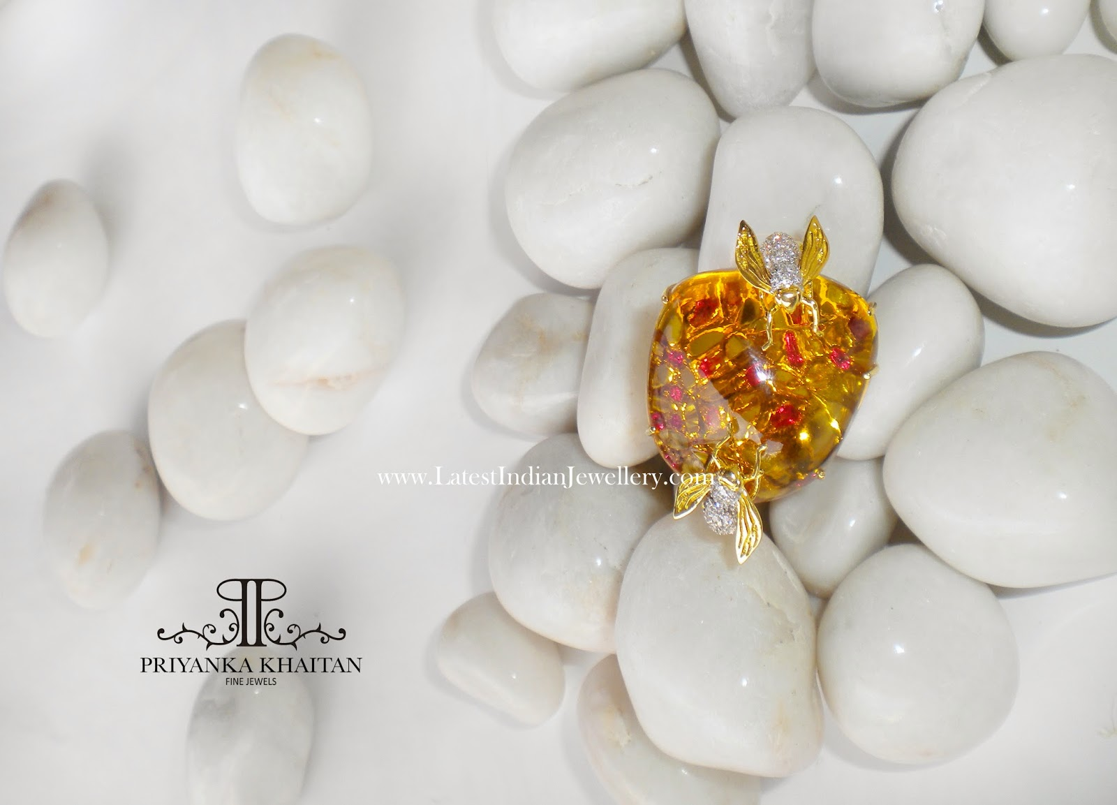 citrine statement ring