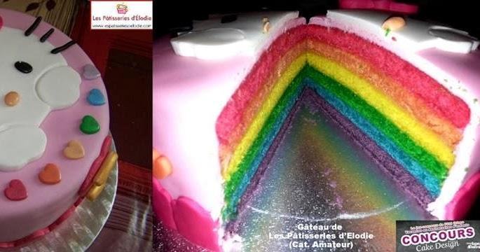 Rainbow Cake Aux Pommes Caram Ef Bf Bdlis Ef Bf Bdes