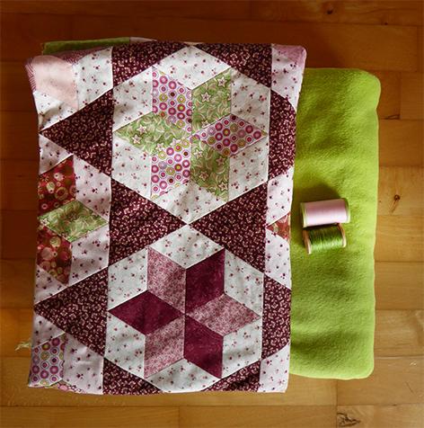 grøn fleece tæppe